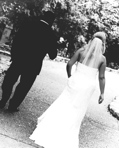 Tianabeasleyphotography Black And White Photography Austin Texas Zilker Botanical Garden Bride And Groom Wedding Day Wedding Photography Two People Real People Bride Wedding Dress