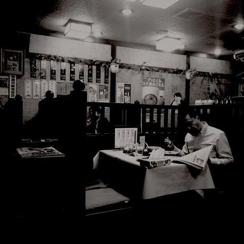 Restaurant Tokyo Lostintranslation Hipstamatic Monochrome Blackandwhite