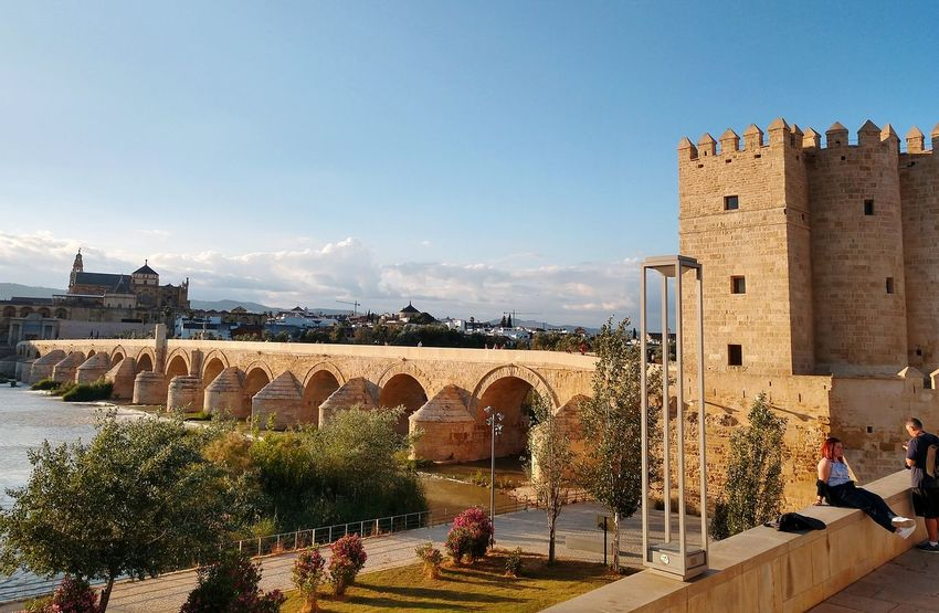 Puente Romano de Córdoba EyeEm Selects Taking Photos Cordoba Spain Puente Romano De Cordoba Bridge View Architecture Sky Architecture Building Exterior Built Structure Historic Castle Fortified Wall The Past Lookout Tower Ancient Historic Building Archaeology History Passageway Medieval Fort