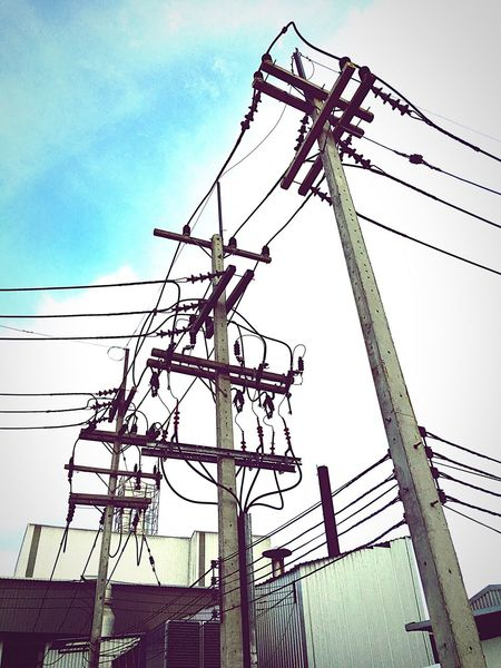 Column Tall Pot Industrial Factory Truck Electric Wire Electricity  Electric Lines Electric Electricity Tower Electrical Power Power Supply Highvoltage High Voltage Wire