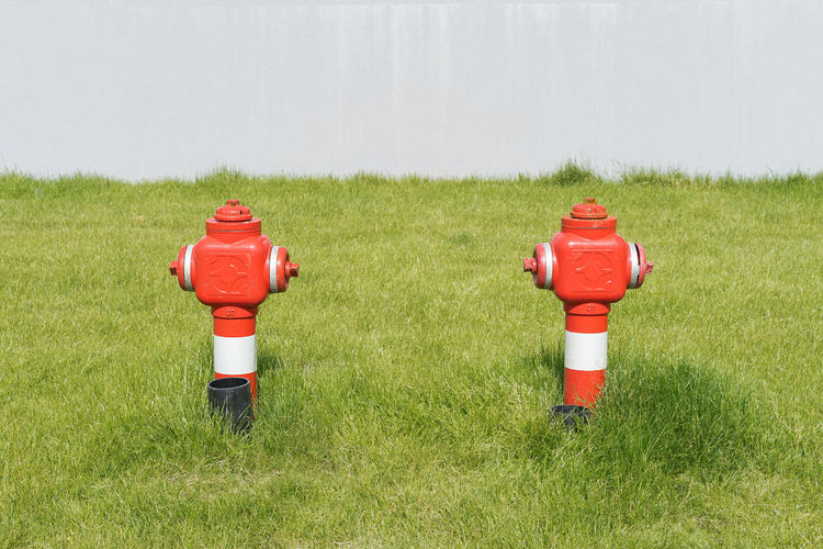 BYOPaper! Grass Fire Hydrant Symmetry Urban Nature Close-up Red Minimalism Minimalobsession Colour Your Horizn