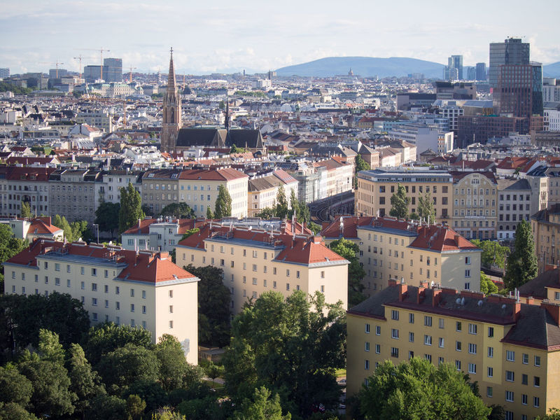 Skyline view of Vienna including St. Stephen's Cathedral Architecture Building Exterior Built Structure City Cityscape Day Outdoors St. Stephen's Cathedral Town