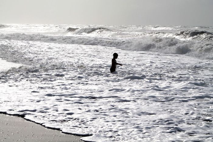 Just me and the waves Lifestyles Holiday Horizon Over Water Beach Outdoors Sea Day