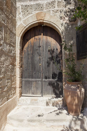 Door in Lindos, Rhodes Greece Ancient Architecture Built Structure Door Doorway Entrance Greece Green Color Holiday Holidays Horizontal No People Outdoors Rhodos Sand Vacation Vacations Wall