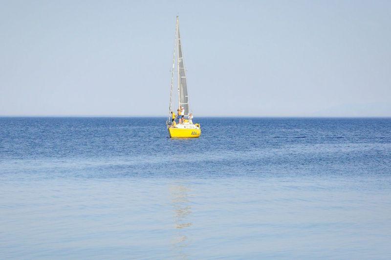 Sailboat Sailing In Sea