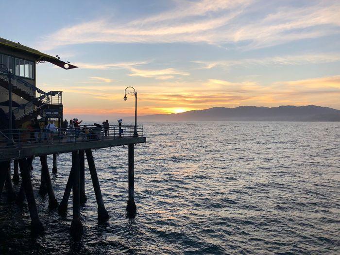 …at #SantaMonicaPier! Pier Sky Water Sunset Sea Cloud - Sky Beauty In Nature Scenics - Nature Silhouette