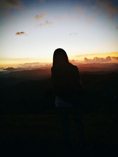 One Person Silhouette Women Sky Outdoors One Woman Only Nature Sunset Godscreation One Of My Favorite Things Peaceful Moment Colors Magnificient The Street Photographer - 2017 EyeEm Awards