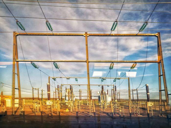 High voltage. ⚡ Sky Architecture Built Structure Power Line  Electricity Pylon Electricity Tower Electricity  Electrical Grid Cable Power Supply Electric Pole