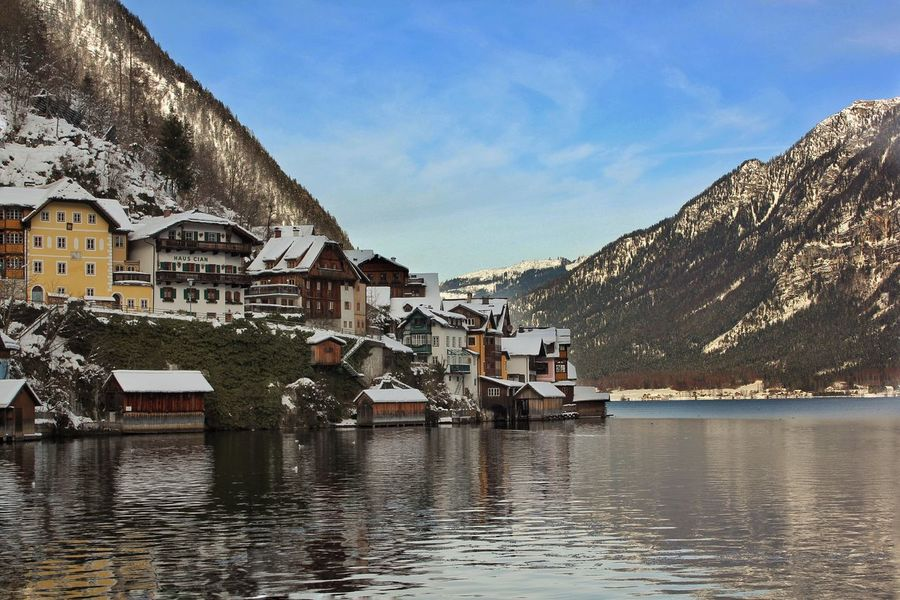 Mountains Alps Sunny Day Winter Landscape Enjoying Life Check This Out Travel Destinations Travel Photography Lake Beauty In Nature Landscape_photography Taking Photos Beautiful Nature Austria Österreich Hallstatt Salzkammergut, Austria Showcase June