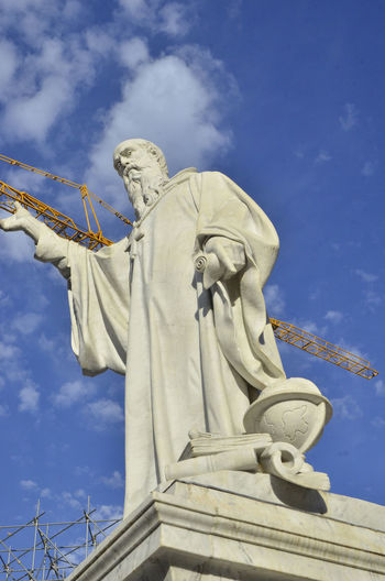 S.Benedetto Statue Architecture Built Structure Creativity Day Earthquake Earthquake Area Earthquake In Italy Human Representation No People Outdoors Representation Sculpture Sky Statue Travel Destinations