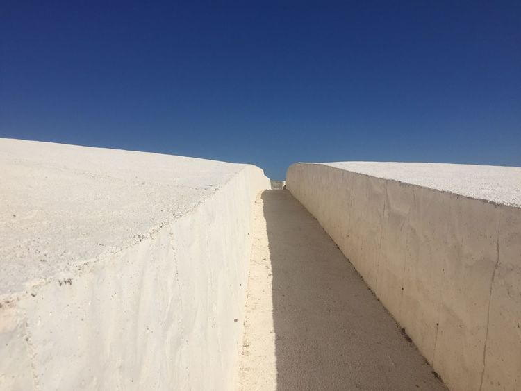 Cretto EyeEm Selects Clear Sky Sand Desert Sunny Blue Day No People Outdoors Architecture Sky