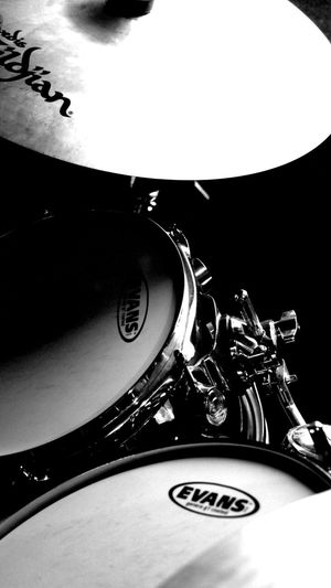 Studio session Blackandwhite Music Cymbals Drums Drumkit Music Arts Culture And Entertainment No People Indoors  Musical Instrument Close-up