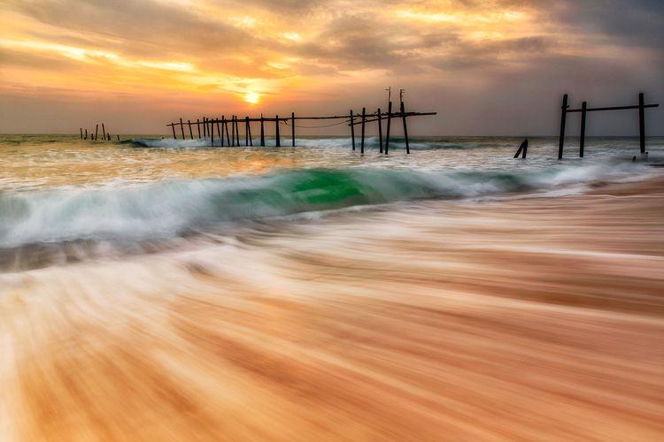 angry sea Beach