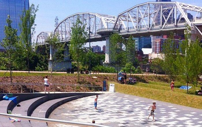 Waterpark In Nashville City Sprinklers Summerfun Kids Being Kids Nashville The Week Of Eyeem This Week On Eyeem Travel Family