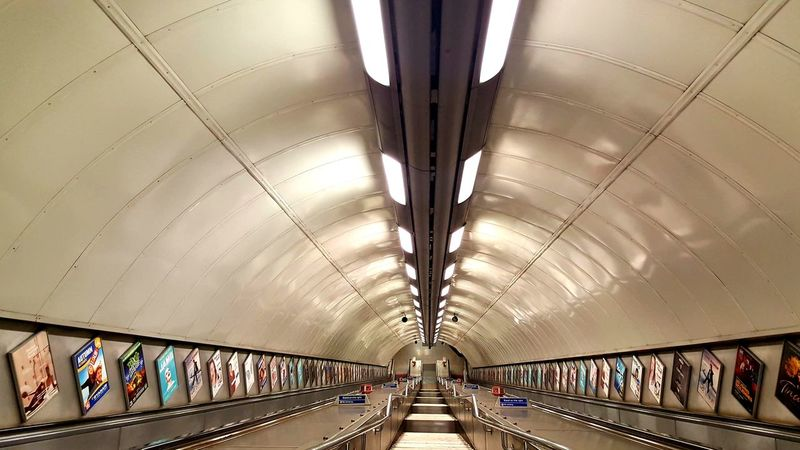 Lights Indoors  Indoor Lighting Ceiling Architecture Built Structure Tube Station  Empty Travel Tube Hyde Park Corner Staircase Stairs Ceiling Stairs Down Architecture No People Indoors  Transportation Empty Places