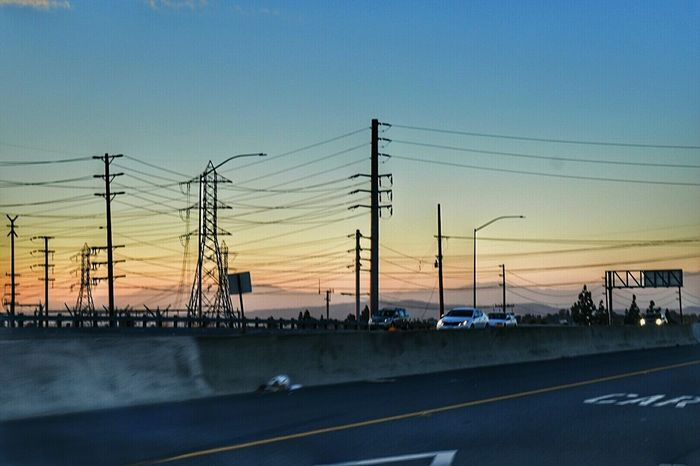 a very wired socal Check This Out Eye4photography  On The Road Eyeemphotography Nikonphotography Learn & Shoot: Leading LinesMy Photography Sunset_collection Taking Photos Electric Lines