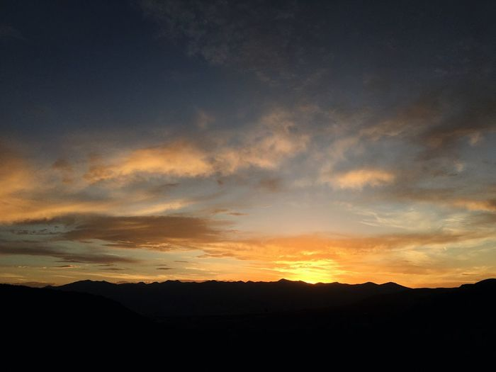 smoke has cleared, for tonight. Wasatch County Utah Wasatch Back Sky Sunset Cloud - Sky Silhouette Beauty In Nature Scenics - Nature Tranquility