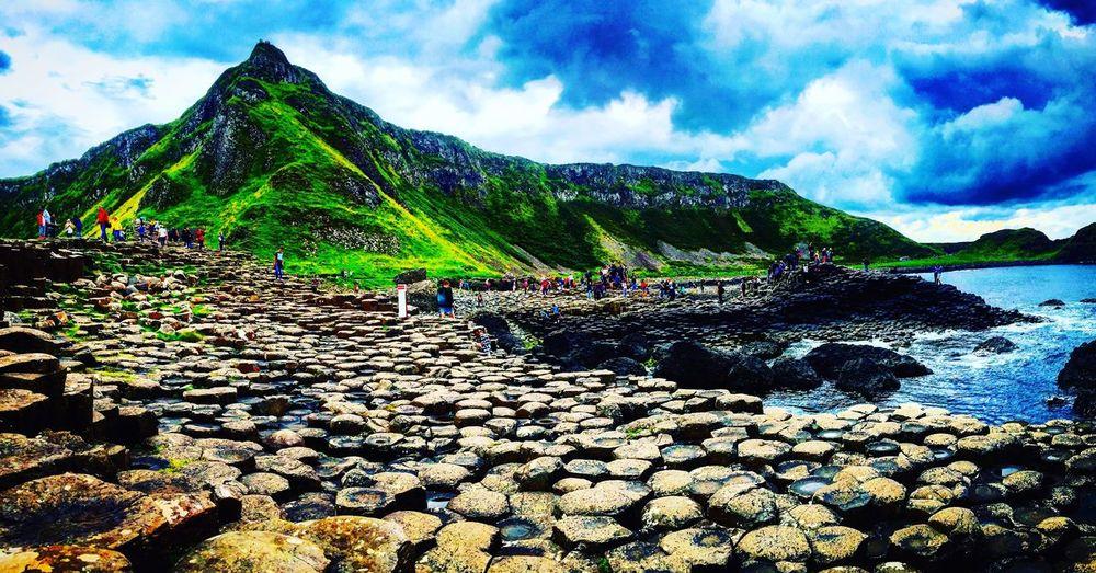 The Giants Causeway Northern Ireland Giants Causeway Ireland Mountain Tourist Causeway Coast