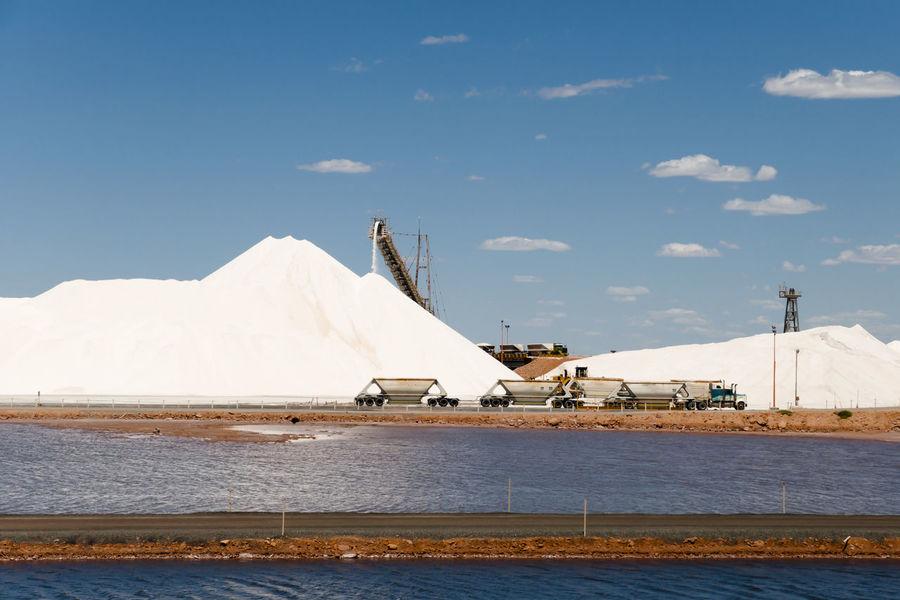 Salt Mounds Australia Port Hedland Salt Mound Salt - Mineral