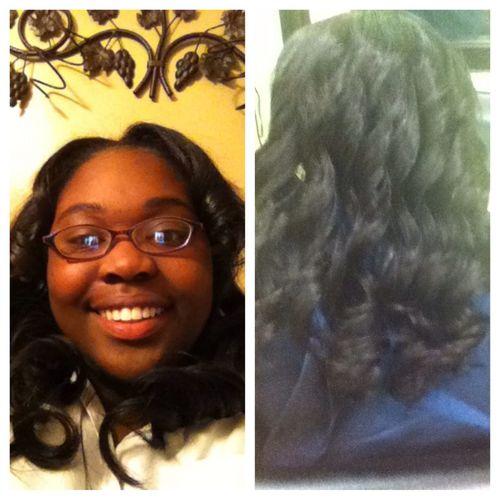 My birthday hair