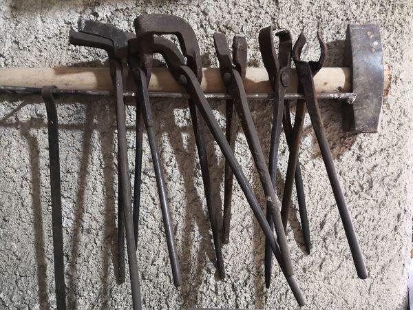 Metal Metal Industry Metalwork Ferro Fabbro Attrezzi Del Mestiere Metal Close-up Hand Tool
