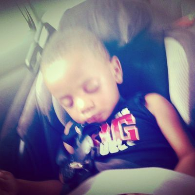 He always wanna hop in the car and that's the first thing he do Wakeyoaup