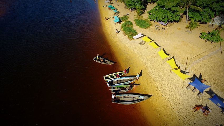 Vôo no Rio Caraíva Aerial View Aerial Shot Aerial Photography Beach Beach Photography River Boat Caraiva Sun Beachphotography High Angle View Water Day No People Outdoors Nature Close-up EyeEmNewHere An Eye For Travel