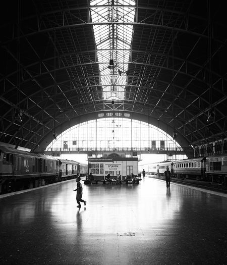 Public Transportation Transportation Architecture Built Structure Mode Of Transportation Indoors  Arch Travel Railroad Station Real People Day Men Walking Incidental People People Railroad Station Platform Ceiling Lifestyles Rail Transportation Silhouette