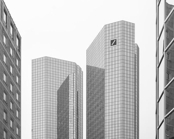 Bank Tower in Frankfurt am Main Building Exterior Built Structure Architecture Office Building Exterior Building City Office Skyscraper Modern Tall - High Low Angle View Sky Tower Clear Sky No People Glass - Material Nature Day Outdoors Urban Skyline Financial District  Cityscape Deutsche Bank Twin Towers