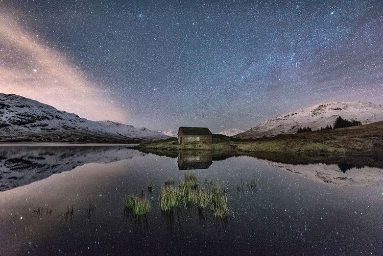 Cold reflection EyeEm Masterclass Landscape_Collection The Great Outdoors - 2017 EyeEm Awards EyeEmNewHere EyeEm Best Shots Scotland Reflection Travel Destinations Mountain Peak Star - Space Astronomy Milky Way Night Sky Long Exposure Lake Outdoors Constellation Galaxy Scotland 💕