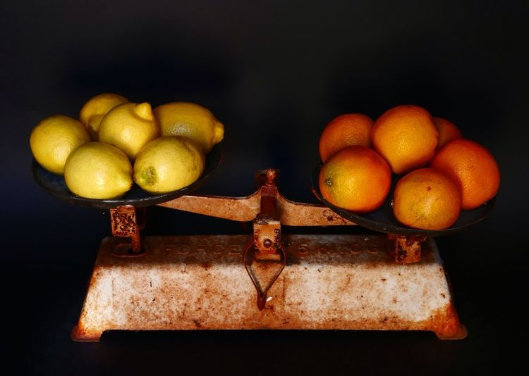 Scale  Oldies Orange Lemon Weight Still Life