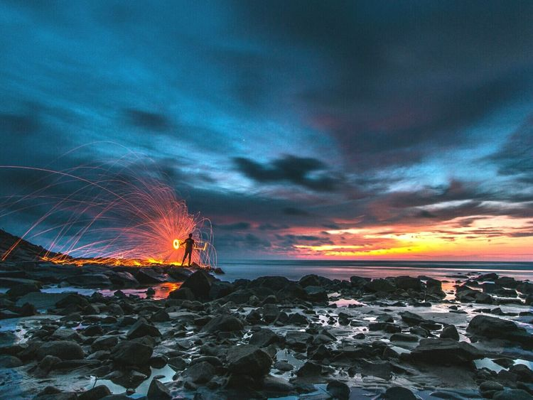 Long Exposure EyeEm Best Shots Water_collection Beachphotography Beach Photography Steelwool Nature_collection Landscape_Collection EyeEm Nature Lover Sunset