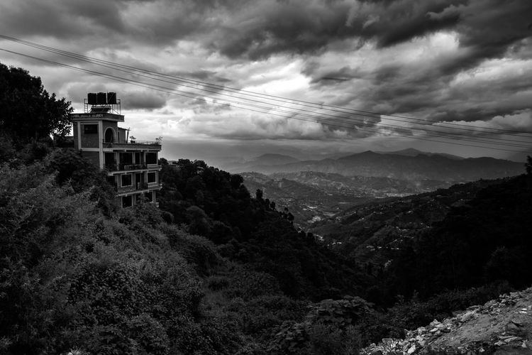 Down the steep valley Black And White Countryside Drematic Landscape Monsoon Season Moody Natural Nature Nepalese Old Picturesque Rural Shadows & Lights Steep Tourism Travel Destinations Valley