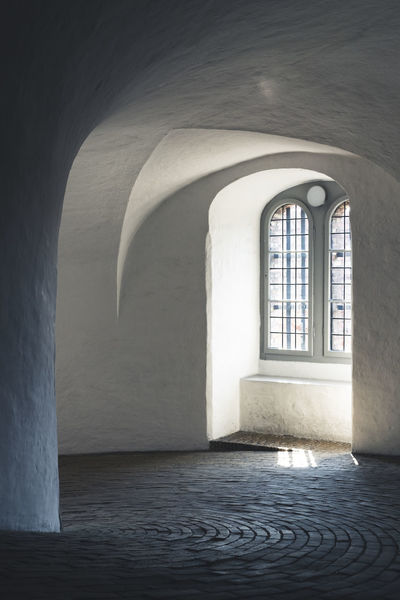Copenhagen, Denmark Round Tower Absence Arch Arched Architecture Building Built Structure Ceiling Copenhagen Day Direction Empty Flooring History Indoors  Nature No People Religion Rundetaarn Sunlight The Past The Way Forward Wall - Building Feature Window