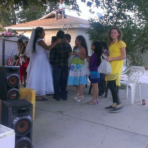 My niece is the only white girl at this party. Lol OnlyWhiteGirl MexicanParty
