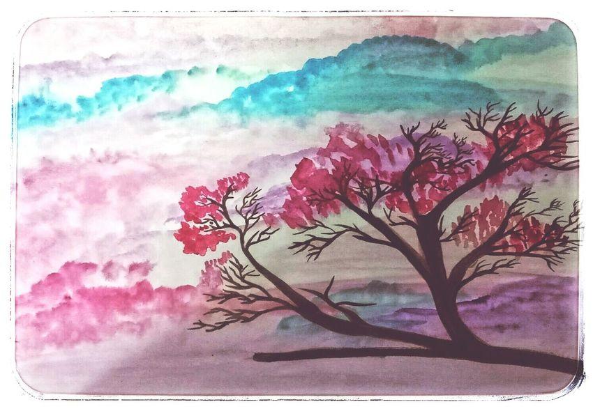 Ink Painted Image Flower Multi Colored Paintings Painter - Artist