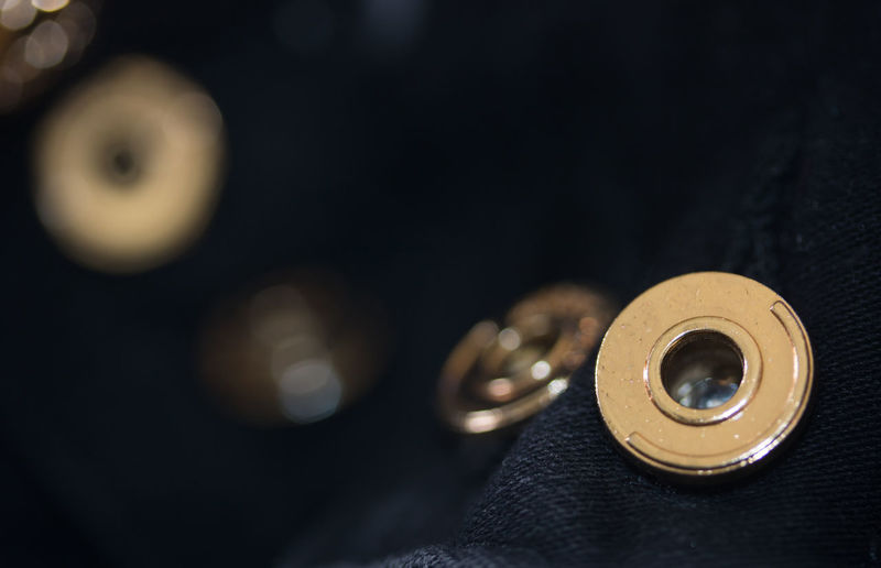 Button me up Button Close Up Buttons Everyday Life Everyday Lives Gold Macro Photography Textured  Textures Black Black Color Buttons Close Up Close Up Texture Close-up Clothes Clothing Everyday Art Everyday Things Gold Colored Macro Material Materials Texture