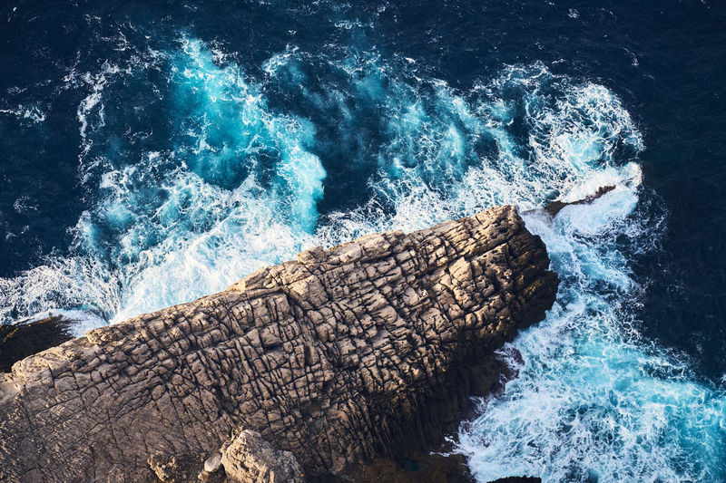 Mallorca Beauty In Nature Blue Breaking Cap De Formentor Crash Day Force High Angle View Motion Nature No People Outdoors Power In Nature Rough Sea Splashing Sunlight Water Waterfront Wave
