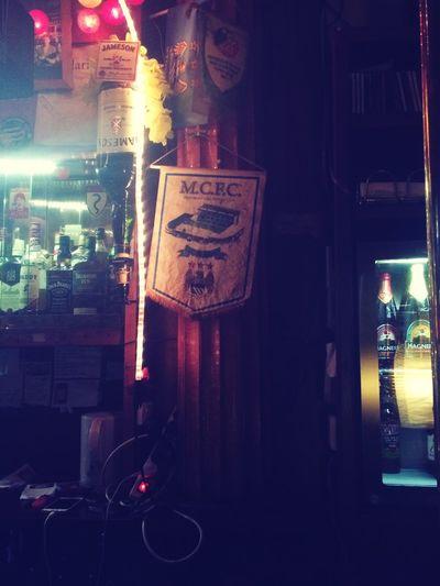 Manchester City club flag lost in Amsterdam M.C.F.C