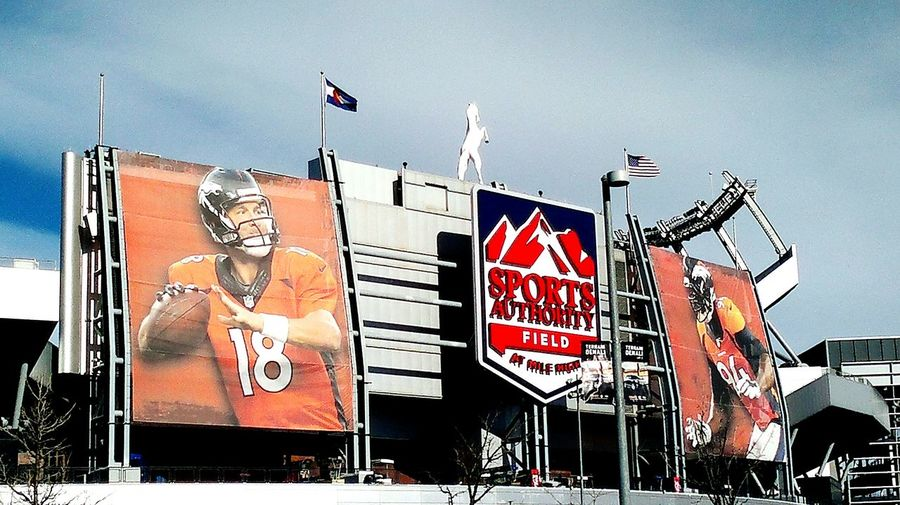 Denver Broncos Mile High Stadium Sports Authority Field Peyton Manning Number 18 Denver Broncos Sign Outdoor Photography Eyeem Photography EyeEm Gallery Phoneography The Irwin Collection 2016 Superbowl Champions American Life