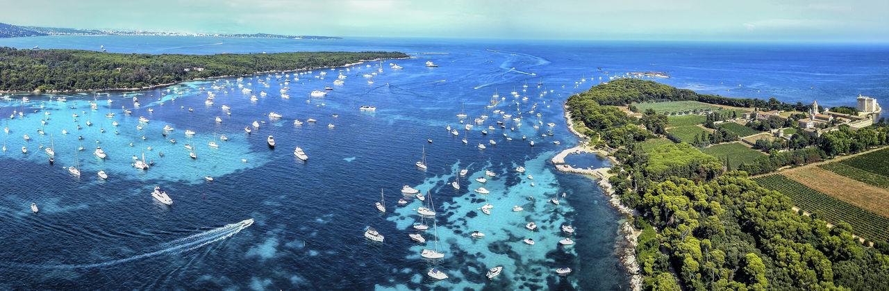 Water Sea Scenics - Nature Beauty In Nature Horizon Over Water Skyview Dronephotography Coastline Islands Ocean View Ocean French Riviera Riviera
