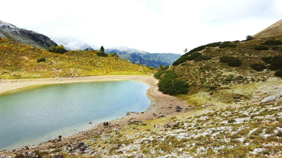 Tannheimer Tal - Össterreich Bergsee Winter Snow Mountain Grass Grass Green Nature Water Cloud - Sky Beauty In Nature Lake
