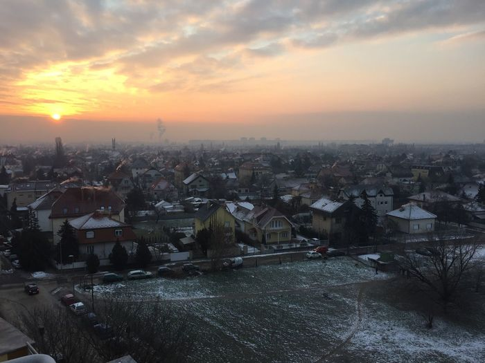Just another cold sunrise... Sunrise Cold Winter Budapest Budapest, Hungary Zugló Hermina Happy Land