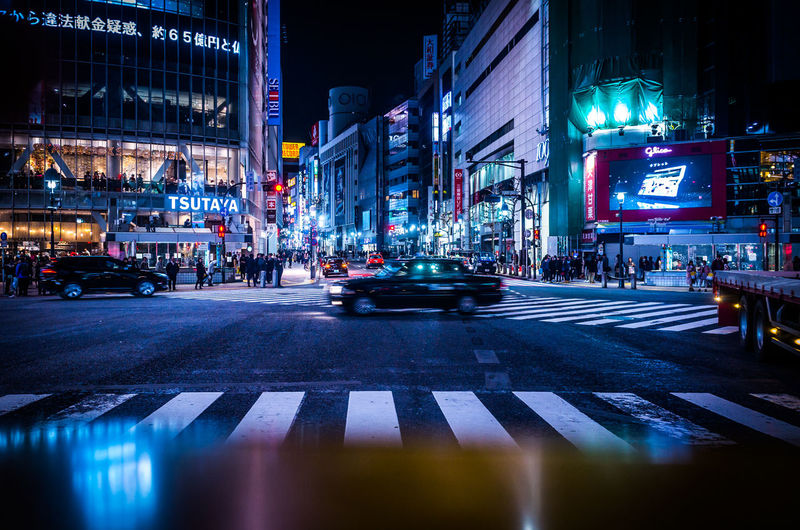 City City Life Cityscape Cyberpunk Drastic Edit Intersection Japan Moments Perspective Reflection Shibuya Shibuya Crossing Taxi Tokyo Traffic Transportation Atmospheric Mood City Lights Nightlife Speed Street Technology Urban Urban Landscape Zebra Crossing The Architect - 2018 EyeEm Awards HUAWEI Photo Award: After Dark