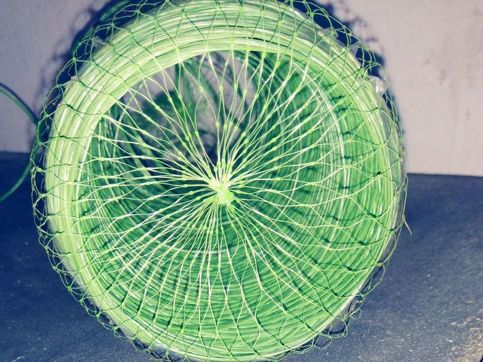 Green Color Rope Roll Householdthread trap High Angle View No People Indoors