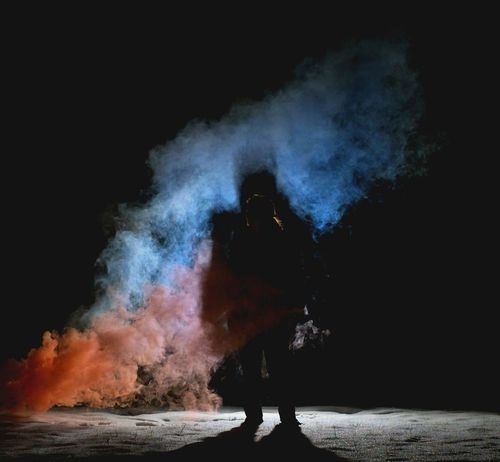 Sillouette Shadow 18-105mm Inspirational Inspiration Beauty Red Blue Cool Snow Winter Smoke Smoke Bomb Cloud Night Sony Sony A6500 Sonyalpha Love Friendship Experiment Smoke Photography Flash Photography Noob Shades Of Winter Capture Tomorrow