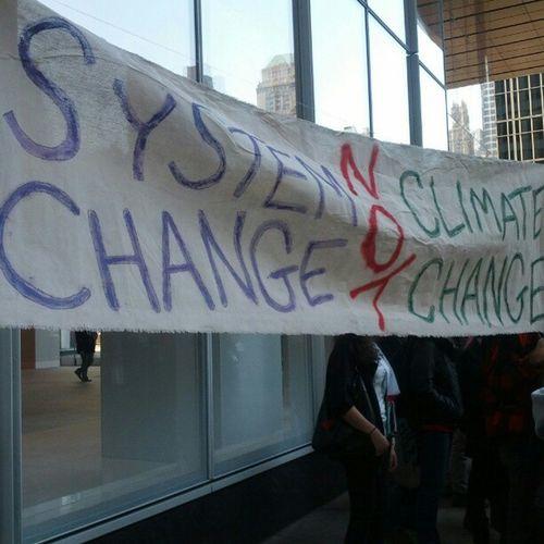 SystemChange not Climatechange Banfracking N17 NYC