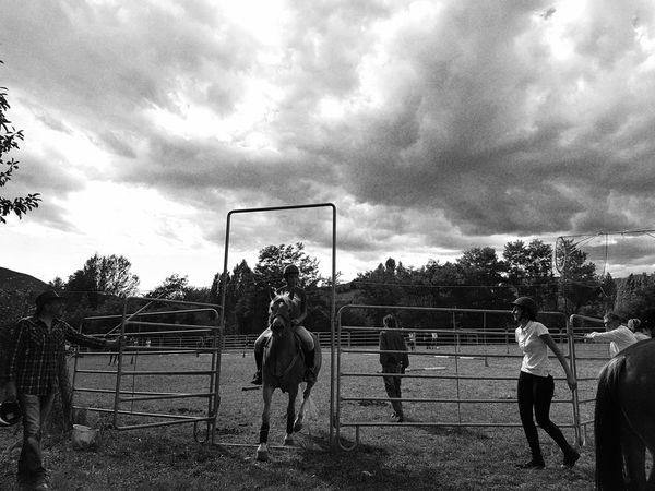 Countryfair Horserider Outdoors Day Horseback Riding Horse Blackandwhite Domestic Animals Carousel Horse People Real People Taking Photos Enjoying Life Cellphone Photography Country Country Life