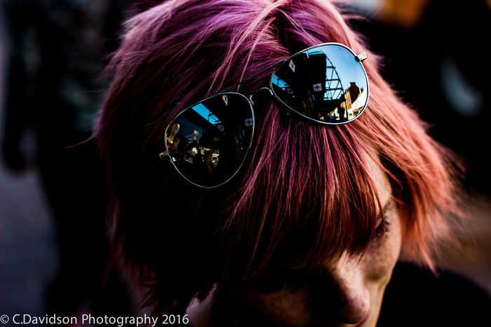 Ayr Bright College Colours Hayley Photography Photography Student Pink Pink Hair Reflection Short Hair Sunglasses