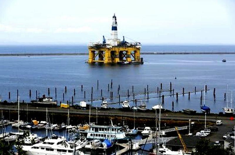 Oilrig Olympic Peninsula Port Angeles Washington